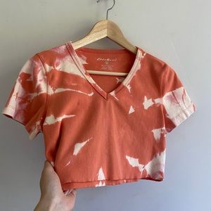 Vintage 90s crop top hand tie dyed trend t shirt